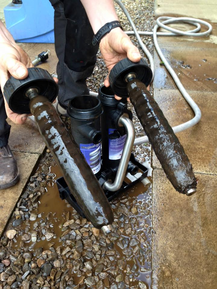 Power Flush Leeds - Taylor Gas Services (Leeds) before